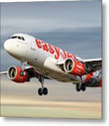 Easyjet Airbus A319-111 Metal Print