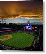 Los Angeles Dodgers V Colorado Rockies Metal Print