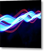 Abstract Light Trails And Streams Metal Print