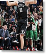Boston Celtics V Brooklyn Nets Metal Print