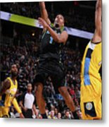 Dallas Mavericks V Denver Nuggets Metal Print