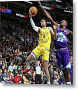 Golden State Warriors V Utah Jazz Metal Print