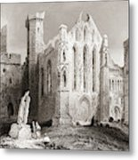 Ruins At Cashel, From The South, Connemara, County Galway, Ireland Metal Print