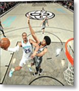 Charlotte Hornets V Brooklyn Nets Metal Print