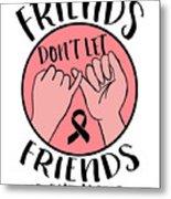 Breast Cancer Awareness Art For Warrior Women Light Metal Print