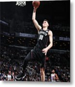 Detroit Pistons V Brooklyn Nets Metal Print