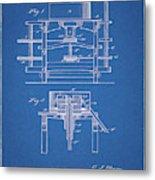 1885 Grist Mill Patent Metal Print