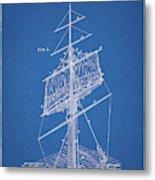 1885 Sails Patent Metal Print