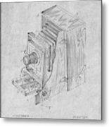 1887 Blair Photographic Camera Gray Patent Print Metal Print