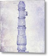 1889 Fire Hydrant Patent Blueprint Metal Print