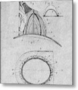 1889 Hopkins Fireman's Hat Gray Patent Print Metal Print