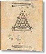 1891 Billiard Ball Rack Patent Print Antique Paper Metal Print
