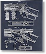 1894 Winchester Lever Action Rifle Blackboard Patent Print Metal Print