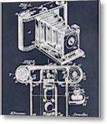 1899 Photographic Camera Patent Print Blackboard Metal Print