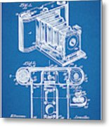 1899 Photographic Camera Patent Print Blueprint Metal Print