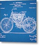 1901 Stratton Motorcycle Blueprint Patent Print Metal Print