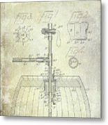 1902 Beer Tapping Device Patent Metal Print