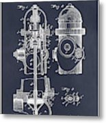 1903 Fire Hydrant Blackboard Patent Print Metal Print