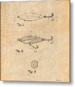 1909 Lockhart Antique Fishing Lure Antique Paper Patent Print Metal Print