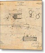 1913 Remington Model 17 Pump Shotgun Antique Paper Patent Print Metal Print