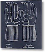 1914 Hockey Gloves Blackboard Patent Print Metal Print