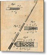 1917 Billiard Pool Cue Antique Paper Patent Print Metal Print