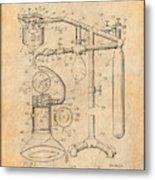 1919 Anesthetic Machine Antique Paper Patent Print Metal Print