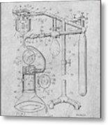 1919 Anesthetic Machine Gray Patent Print Metal Print