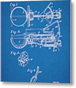 1924 Ice Cream Scoop Blueprint Patent Print Metal Print