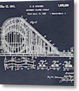 1927 Roller Coaster Blackboard Patent Print Metal Print