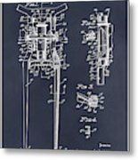 1929 Harley Davidson Front Fork Blackboard Patent Print Metal Print
