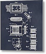 1930 Leon Hatot Self Winding Watch Patent Print Blackboard Metal Print