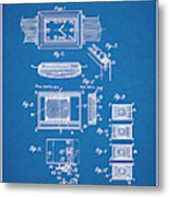 1930 Leon Hatot Self Winding Watch Patent Print Bluebrint Metal Print