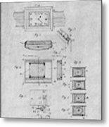 1930 Leon Hatot Self Winding Watch Patent Print Gray Metal Print