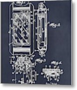1931 Self Winding Watch Patent Print Blackboard Metal Print
