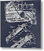 1932 Earth Moving Bulldozer Blackboard Patent Print Metal Print
