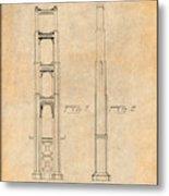 1932 San Francisco Golden Gate Bridge Antique Paper Patent Print Metal Print