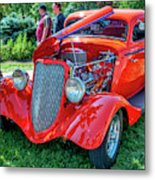 1934 Ford 3 Window Coupe Hot Rod Metal Print