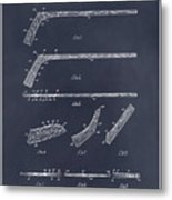 1934 Hockey Stick Patent Print Blackboard Metal Print
