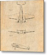 1934 Lockheed Model 10 Electra Airliner Patent Antique Paper Metal Print