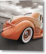 1935 Ford Coupe In Bronze Metal Print