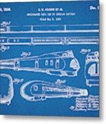1935 Union Pacific M-10000 Railroad Blueprint Patent Print Metal Print