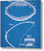 1936 Reach Football Blueprint Patent Print Metal Print