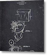 1936 Toilet Bowl - Dark Charcoal Grunge Metal Print