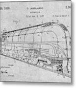 1937 Jabelmann Locomotive Gray Patent Print Metal Print