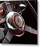 1937 Vintage Model 1508 Steering Wheel Metal Print
