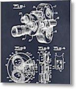 1938 Bell And Howell Movie Camera Patent Print Blackboard Metal Print