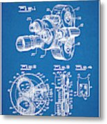1938 Bell And Howell Movie Camera Patent Print Blueprint Metal Print