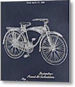 1939 Schwinn Bicycle Blackboard Patent Print Metal Print