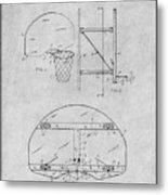 1944 Basketball Goal Gray Patent Print Metal Print